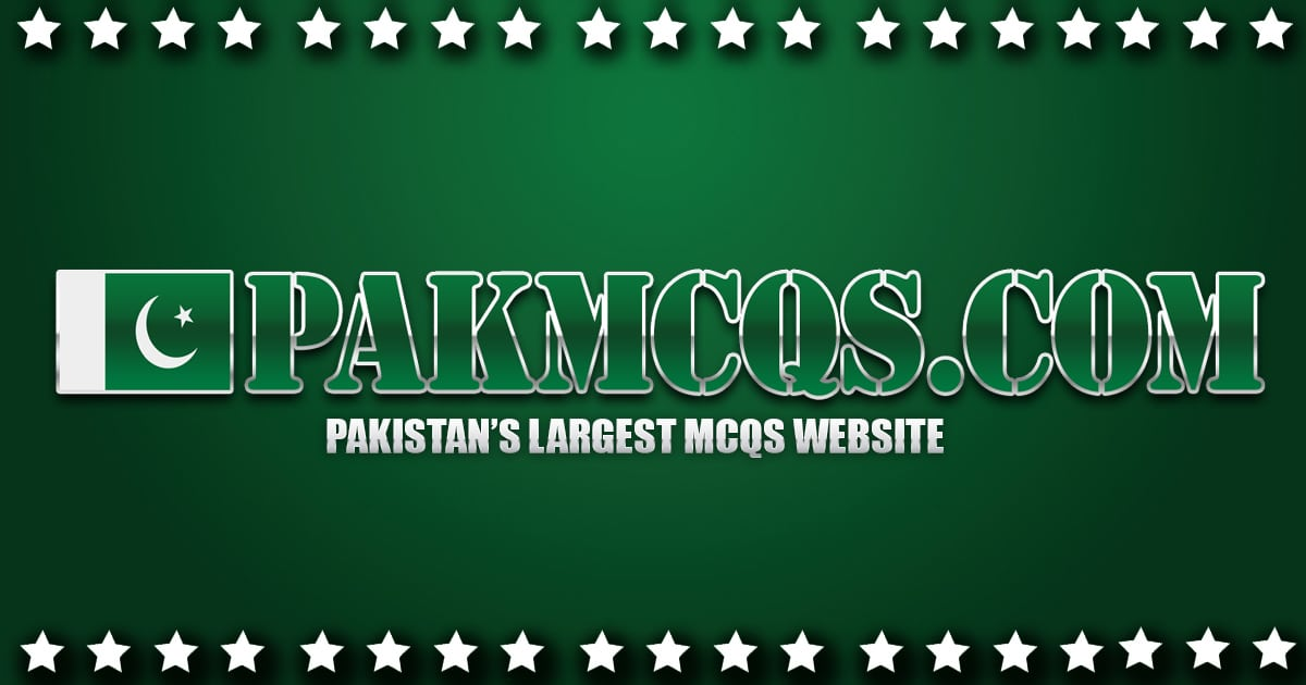PakMcqs - Pakistan's largest Mcqs website