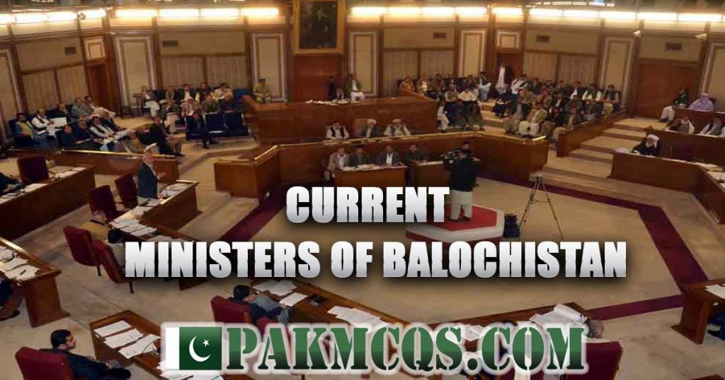Current Provincial Ministers Balochistan