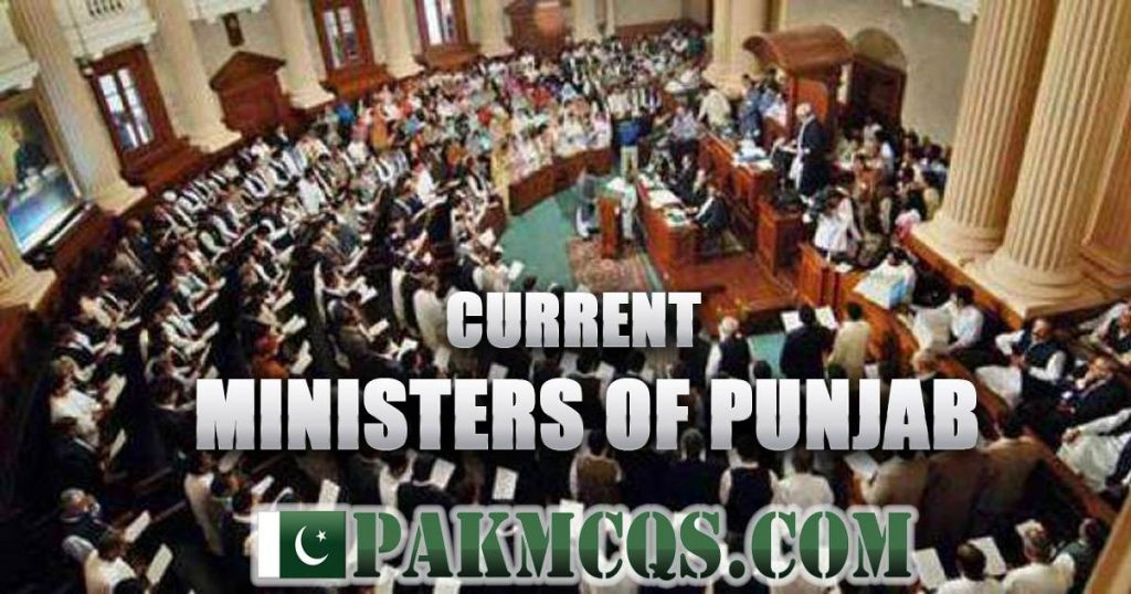 Current Provincial Ministers Punjab