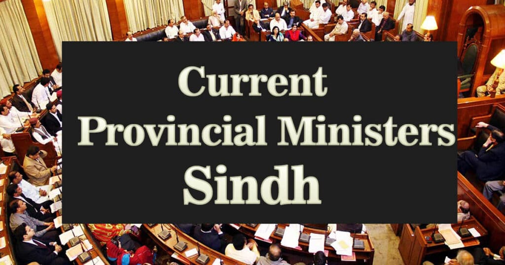 Current Provincial Sindh Ministers MCQs