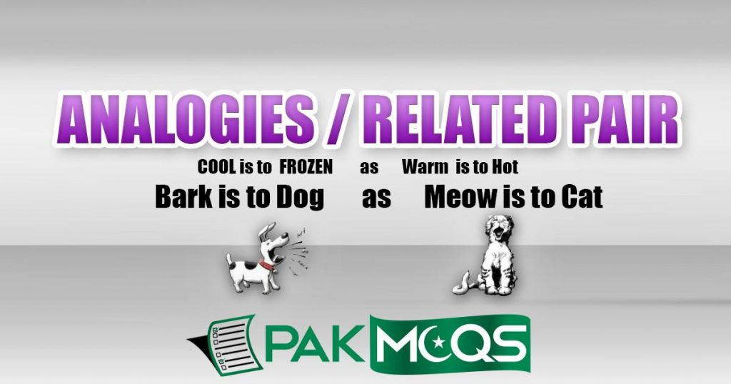 Related Pair of Words/ Verbal Analogies Mcqs and Quiz