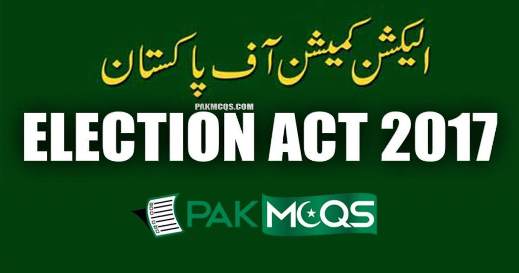 Election Act 2017 Mcqs